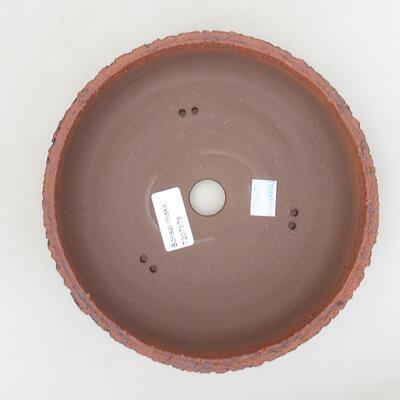 Bonsaischale aus Keramik 19,5 x 19,5 x 6 cm, rissige Farbe - 3