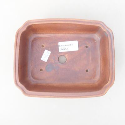 Keramische Bonsai-Schale 17 x 13 x 4,5 cm, graue Farbe - 3