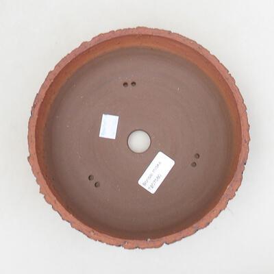Bonsaischale aus Keramik 20 x 20 x 6 cm, Farbe rissig - 3