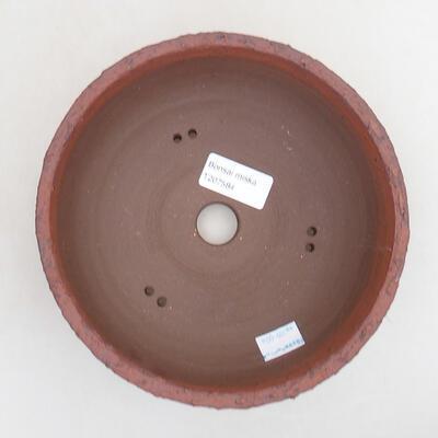 Bonsaischale aus Keramik 18 x 18 x 7 cm, Farbe rissig - 3