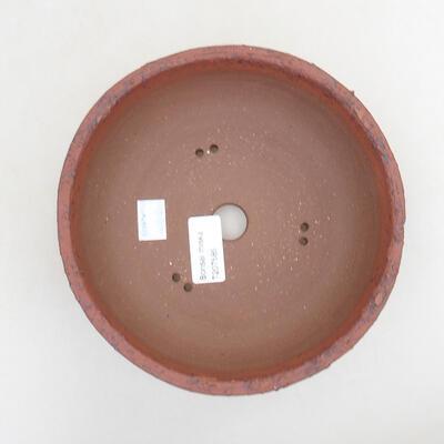 Bonsaischale aus Keramik 18 x 18 x 6,5 cm, rissige Farbe - 3