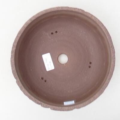 Bonsaischale aus Keramik 21,5 x 21,5 x 7 cm, Farbe rissig - 3