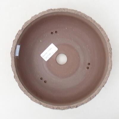 Bonsaischale aus Keramik 20 x 20 x 6,5 cm, Farbe rissig - 3