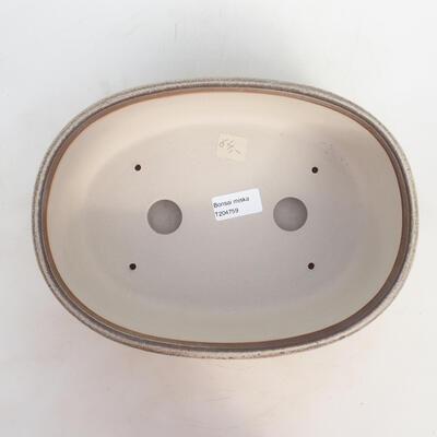 Bonsai-Schale 27 x 20 x 9 cm, grau-beige Farbe - 3