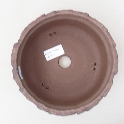 Bonsaischale aus Keramik 17 x 17 x 8 cm, Farbe rissig - 3
