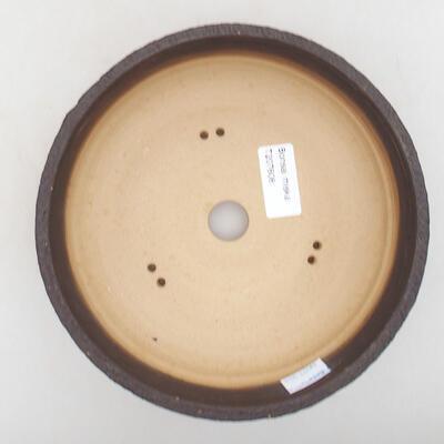 Bonsaischale aus Keramik 18,5 x 18,5 x 6 cm, Farbe rissig - 3