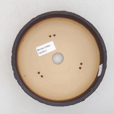 Bonsaischale aus Keramik 17,5 x 17,5 x 5,5 cm, Farbe rissig - 3