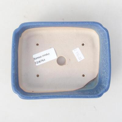 Keramische Bonsai-Schale 15 x 11,5 x 4 cm, Farbe blau - 3