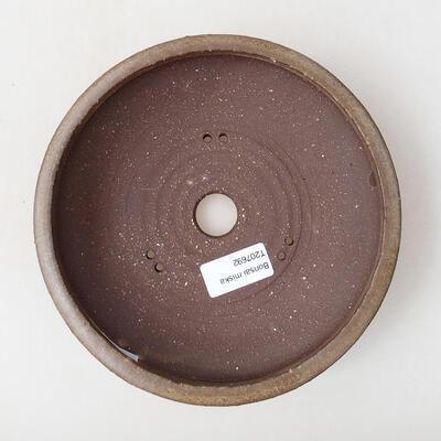 Bonsaischale aus Keramik 18,5 x 18,5 x 5 cm, braune Farbe - 3