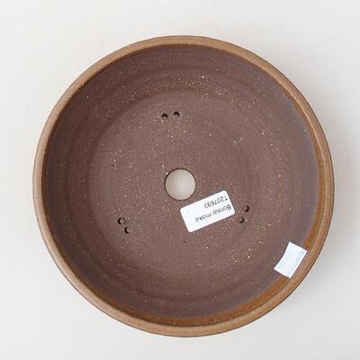 Bonsaischale aus Keramik 21 x 21 x 5 cm, Farbe braun - 3