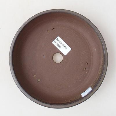 Bonsaischale aus Keramik 18 x 18 x 4 cm, Farbe braun - 3