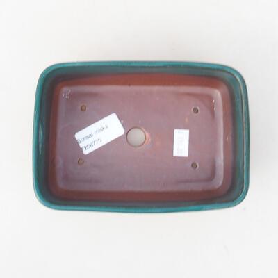 Keramische Bonsai-Schale 15,5 x 10 x 4 cm, Farbe grün - 3