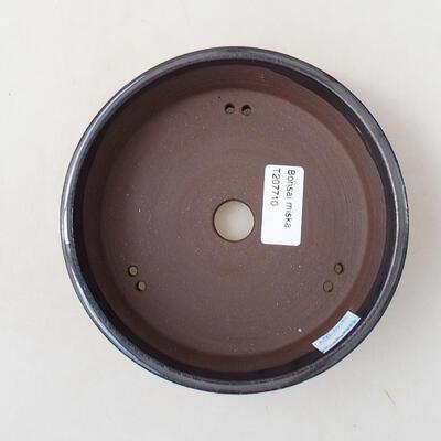 Bonsaischale aus Keramik 15 x 15 x 4,5 cm, metallfarben - 3