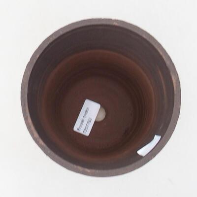 Bonsaischale aus Keramik 13,5 x 13,5 x 15,5 cm, Farbe rissig - 3