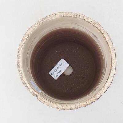 Bonsaischale aus Keramik 14 x 14 x 14,5 cm, Farbe rissig - 3