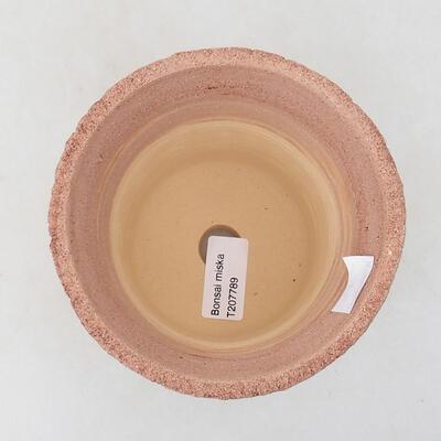 Bonsaischale aus Keramik 12 x 12 x 14 cm, Farbe rissig - 3