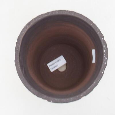 Bonsaischale aus Keramik 14 x 14 x 17 cm, Farbe rissig - 3