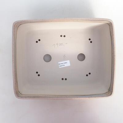 Bonsai-Schale 30 x 24 x 10 cm, Farbe beige-grau - 3
