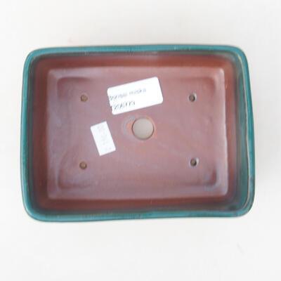 Keramische Bonsai-Schale 14,5 x 11 x 5 cm, Farbe grün - 3