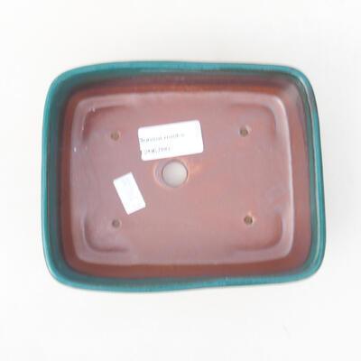 Keramische Bonsai-Schale 15 x 12 x 4,5 cm, Farbe grün - 3