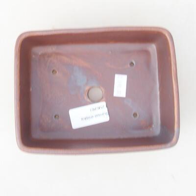 Keramische Bonsai-Schale 14,5 x 11 x 5 cm, graue Farbe - 3