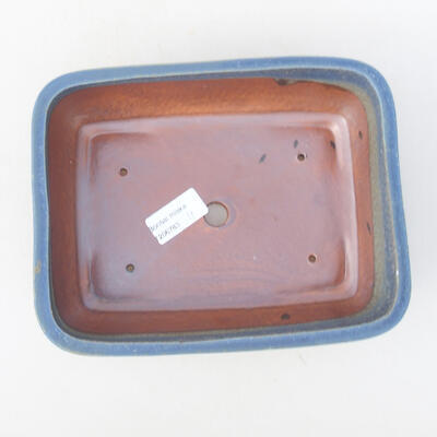 Keramische Bonsai-Schale 21 x 16 x 6,5 cm, Farbe blau - 3