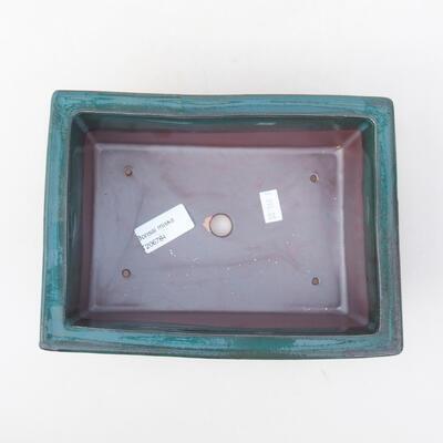 Keramische Bonsai-Schale 20 x 14,5 x 7 cm, Farbe grün - 3