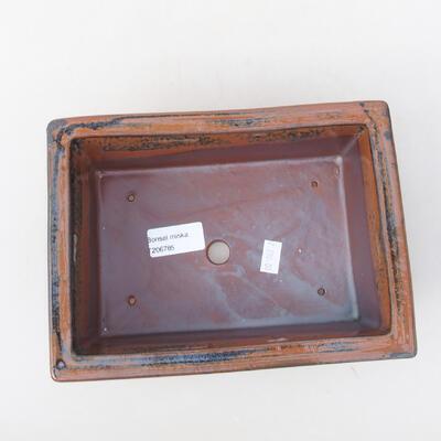 Keramische Bonsai-Schale 20 x 14,5 x 7 cm, Farbe schwarzbraun - 3