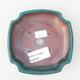 Keramische Bonsai-Schale 12,5 x 10,5 x 3,5 cm, Farbe grün - 3/3