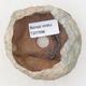 Keramikschale 6,5 x 5,5 x 5,5 cm, Farbe braun-grün - 3/3