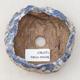 Keramikschale 7,5 x 7 x 4,5 cm, braun-blaue Farbe - 3/3