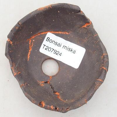 Keramikschale 7,5 x 7,5 x 4 cm, Farbe grau-orange - 3
