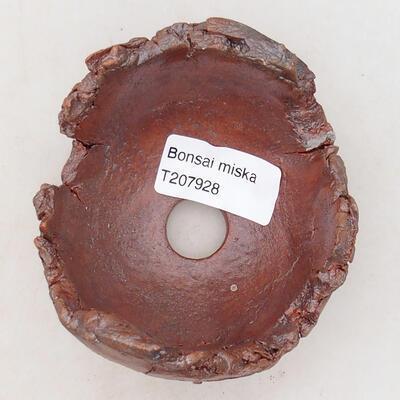 Keramikschale 7,5 x 8 x 7 cm, graubraun - 3
