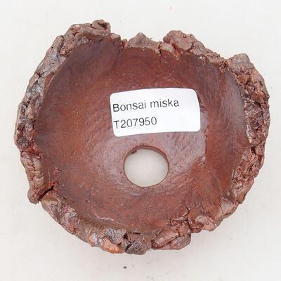 Keramikschale 7,5 x 7,5 x 6,5 cm, graubraun - 3