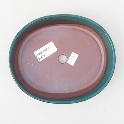 Keramische Bonsai-Schale 17 x 14 x 3,5 cm, Farbe grün - 3