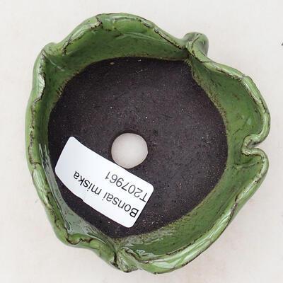 Keramikschale 7,5 x 7 x 4,5 cm, Farbe grün - 3