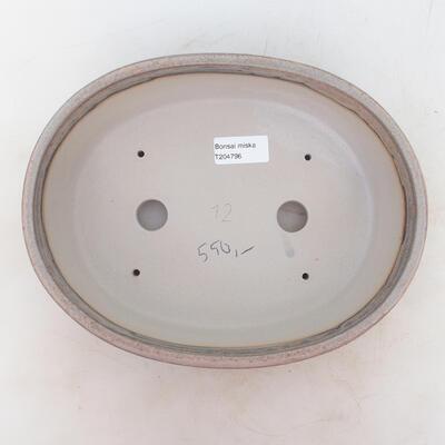 Bonsai-Schale 25,5 x 19 x 6,5 cm, grau-beige Farbe - 3