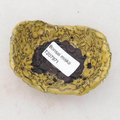Keramikschale 8,5 x 6 x 5 cm, Farbe gelb - 3