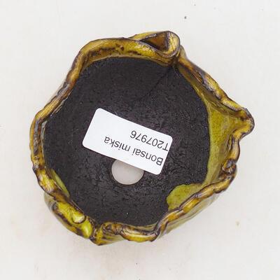 Keramikschale 6,5 x 7 x 6 cm, Farbe gelb - 3