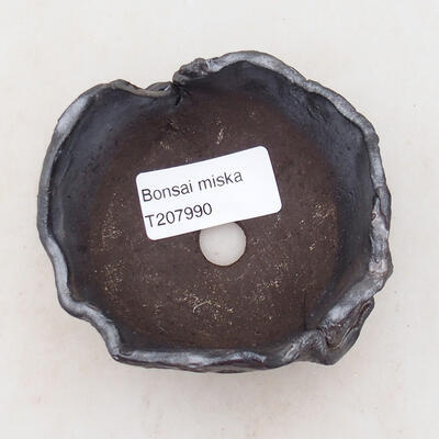 Keramikschale 8 x 7 x 5 cm, Metallfarbe - 3