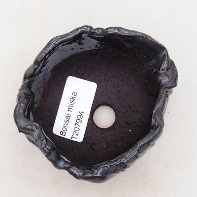 Keramikschale 7,5 x 7 x 4,5 cm, graue Farbe - 3