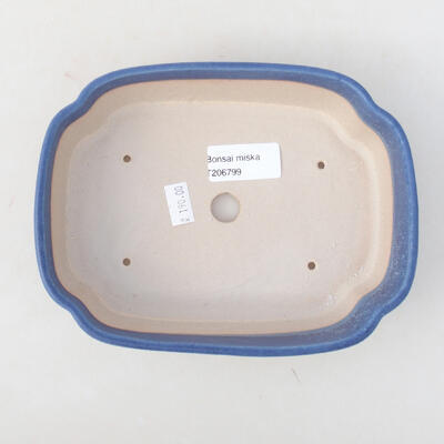 Keramische Bonsai-Schale 18 x 13,5 x 5 cm, Farbe blau - 3