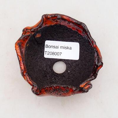 Keramikschale 7,5 x 6,5 x 5 cm, Farbe orange - 3