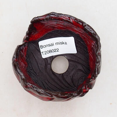 Keramikschale 7 x 6,5 x 6 cm, Farbe rot - 3