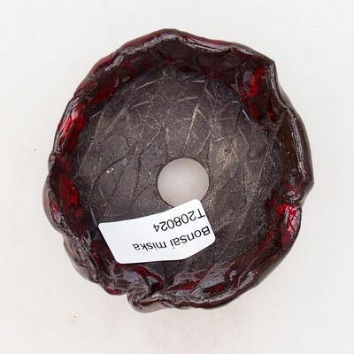 Keramikschale 7 x 7 x 6 cm, Farbe rot - 3