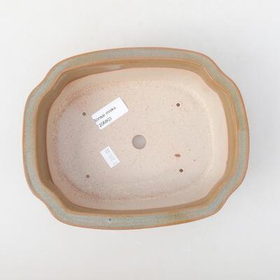Keramische Bonsai-Schale 21 x 16,5 x 7 cm, braune Farbe - 3