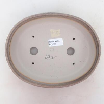 Bonsai-Schale 23,5 x 18,5 x 6 cm, grau-beige Farbe - 3