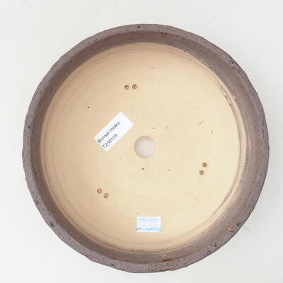 Bonsaischale aus Keramik 21,5 x 21,5 x 7 cm, Farbe Rissgelb - 3