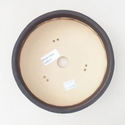 Bonsaischale aus Keramik 19 x 19 x 6 cm, Farbe Rissgelb - 3