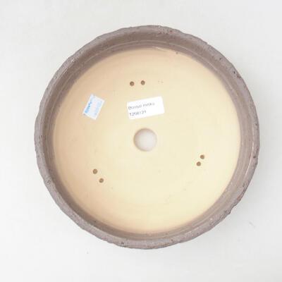 Bonsaischale aus Keramik 20,5 x 20,5 x 7 cm, rissige rote Farbe - 3